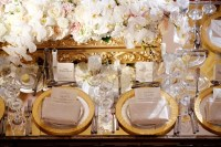 Reception Dcor Photos - Table Setting with Gold Chargers ...