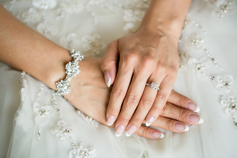 Jewelry Photos Bride With French Manicure And Diamond