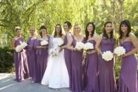 Brides + Bridesmaids Photos - Purple Bridesmaid Dresses in ...