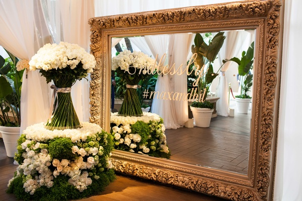 Romantic Jewish Wedding With Lush Ivory Flowers Rose