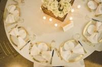 Reception Dcor Photos - Golden Wedding Place Settings ...
