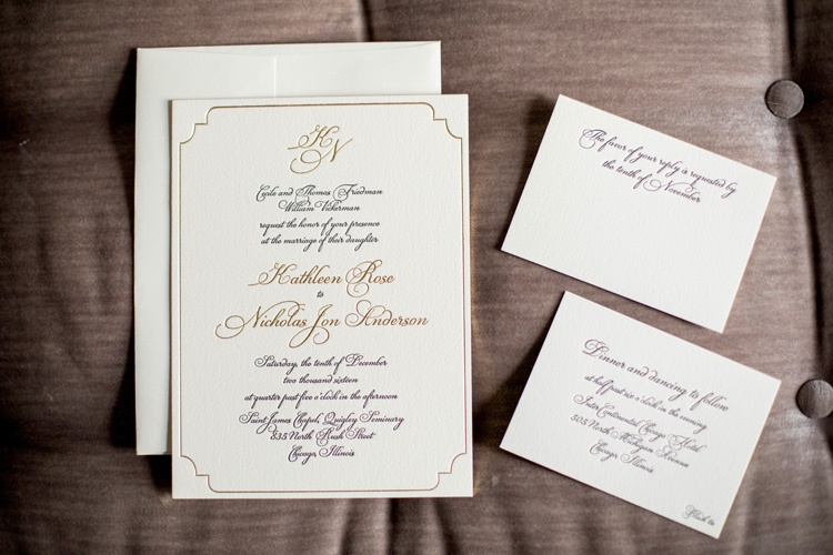 Invitations  More Photos - Formal Invitation Suite on Cushion
