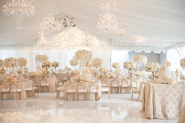 All White Country Club Wedding In Portland Designed By