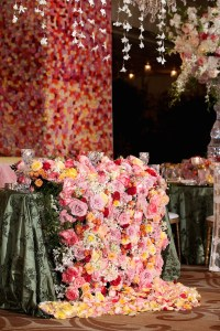 Reception Dcor Photos - Cascading Floral Arrangement ...
