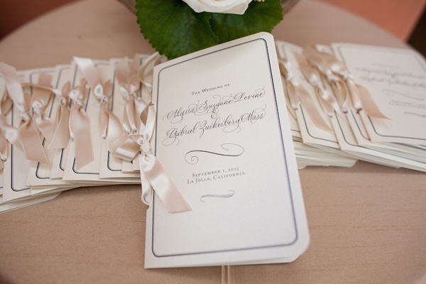 Poolside Wedding With Gold Details At Southern California