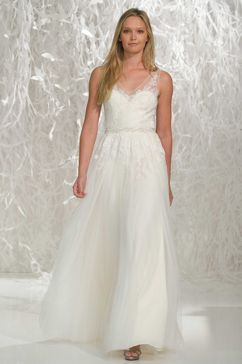 ivory wedding dresses Willowby by Watters ivory wedding dress with illusion lace straps