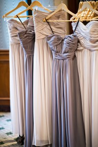 Brides & Bridesmaids Photos - Gray and Taupe Bridesmaid ...