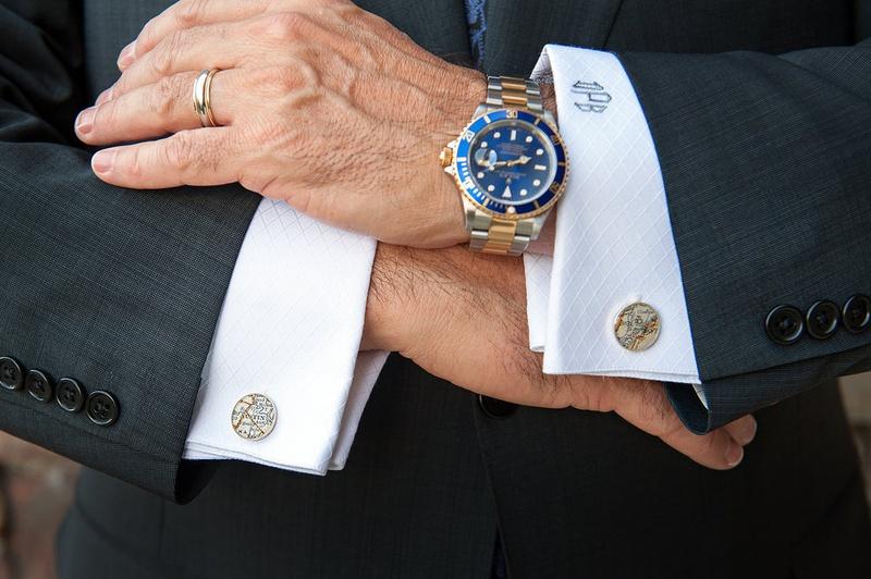 monogrammed shirt cuffs