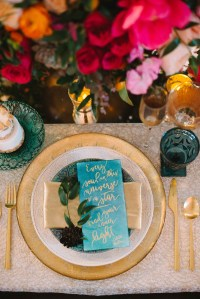Turquoise And Gold Table Setting & Table Setting ...