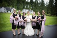 Brides & Bridesmaids Photos - Black Dresses Lavender ...