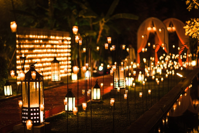 Black And White Tree Wallpaper Once Upon A Time Ceremony D 233 Cor Photos Pathway Lit With Lanterns Lights