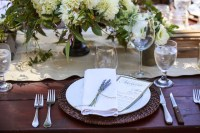 Reception Dcor Photos - Elegant Rustic Place Setting ...