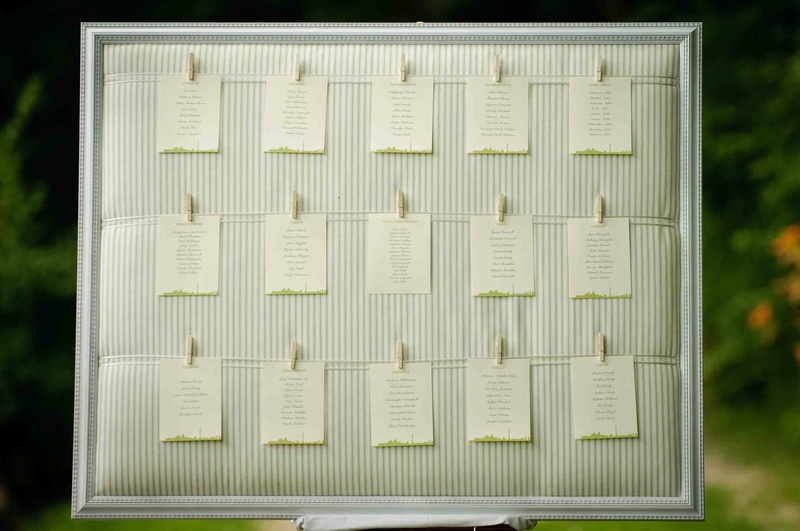 Invitations  More Photos - Clothesline Seating Chart - Inside Weddings