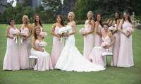 Brides + Bridesmaids Photos - Spaghetti Strap Blush ...
