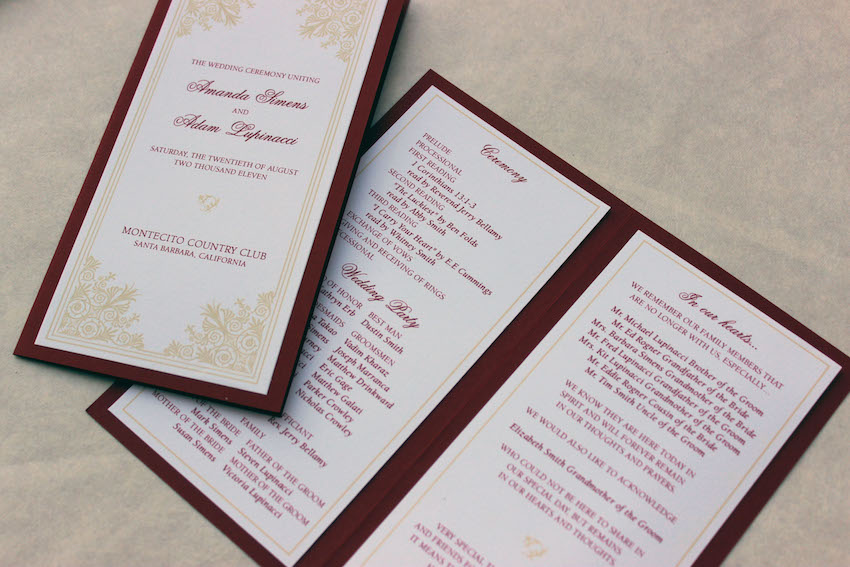 Wedding Programs What to Include in Your Ceremony Program - Inside