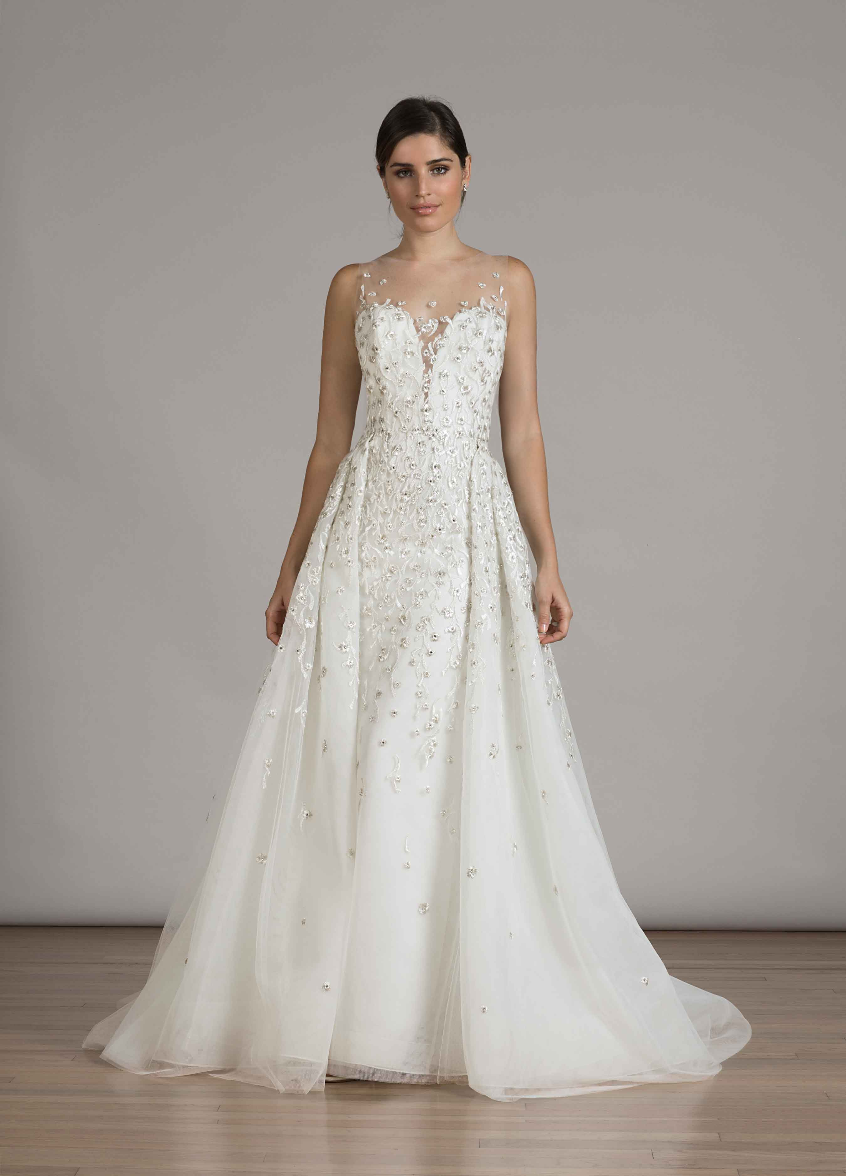 detachable wedding dress liancarlo embroidered gown