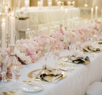 Wedding Trends: Gold Flatware at Reception Table Settings ...