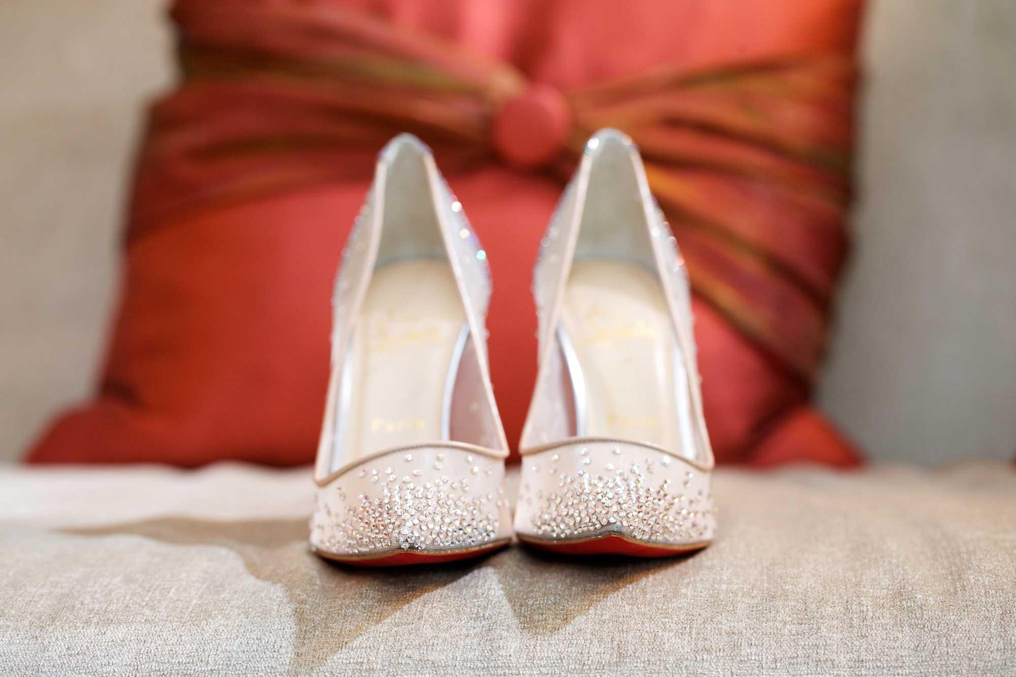 Christian Louboutin Wedding Shoes Blue Bottom