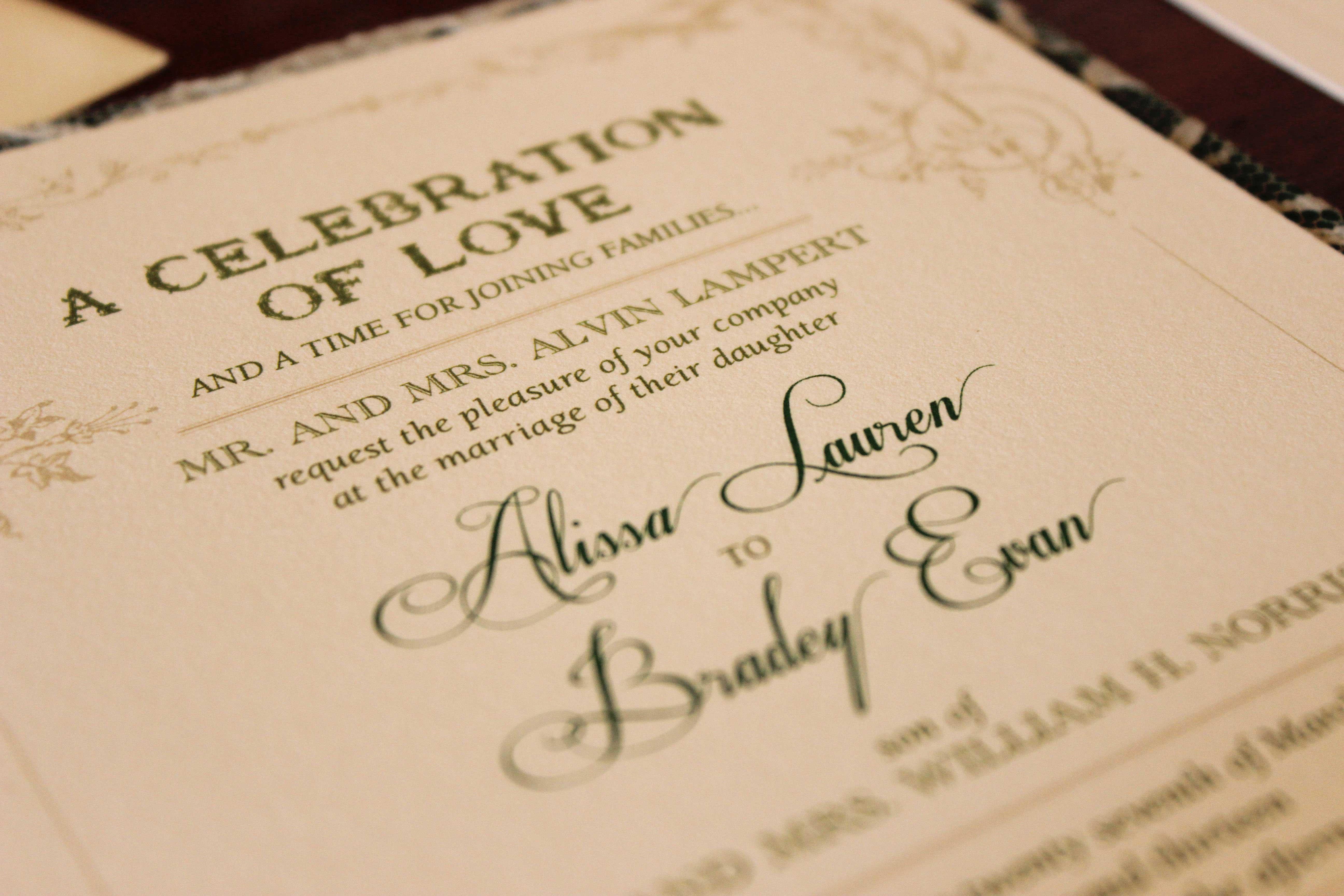 Wedding Invitation Etiquette Special Wording