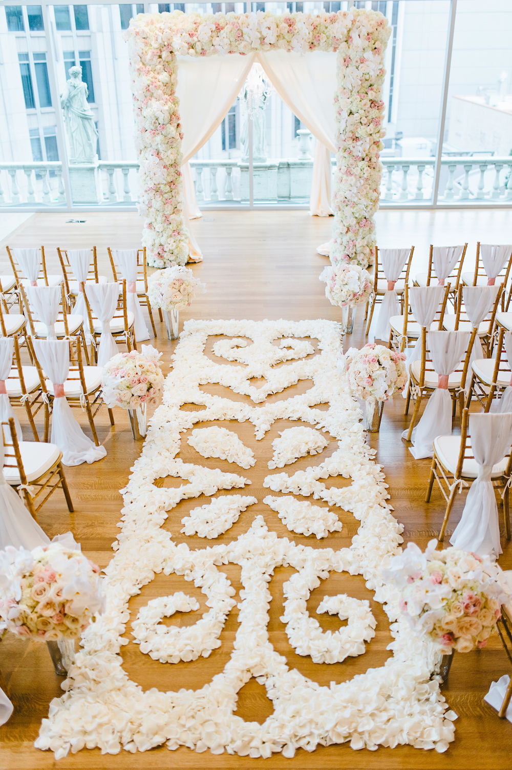 wedding aisle runner Photo by Crystal Stokes Photography