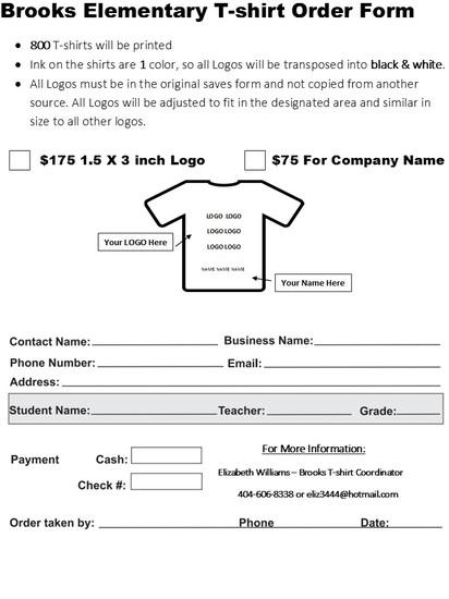 t shirt sponsorship form - Peopledavidjoel