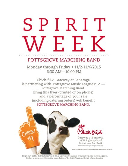 Chick-fil-A Spirit Week Smore Newsletters