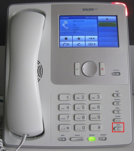 Make a Conference Call Using a Snom 870 Phone