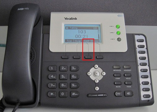 Make a Conference Call Using Yealink T21/T22/T26