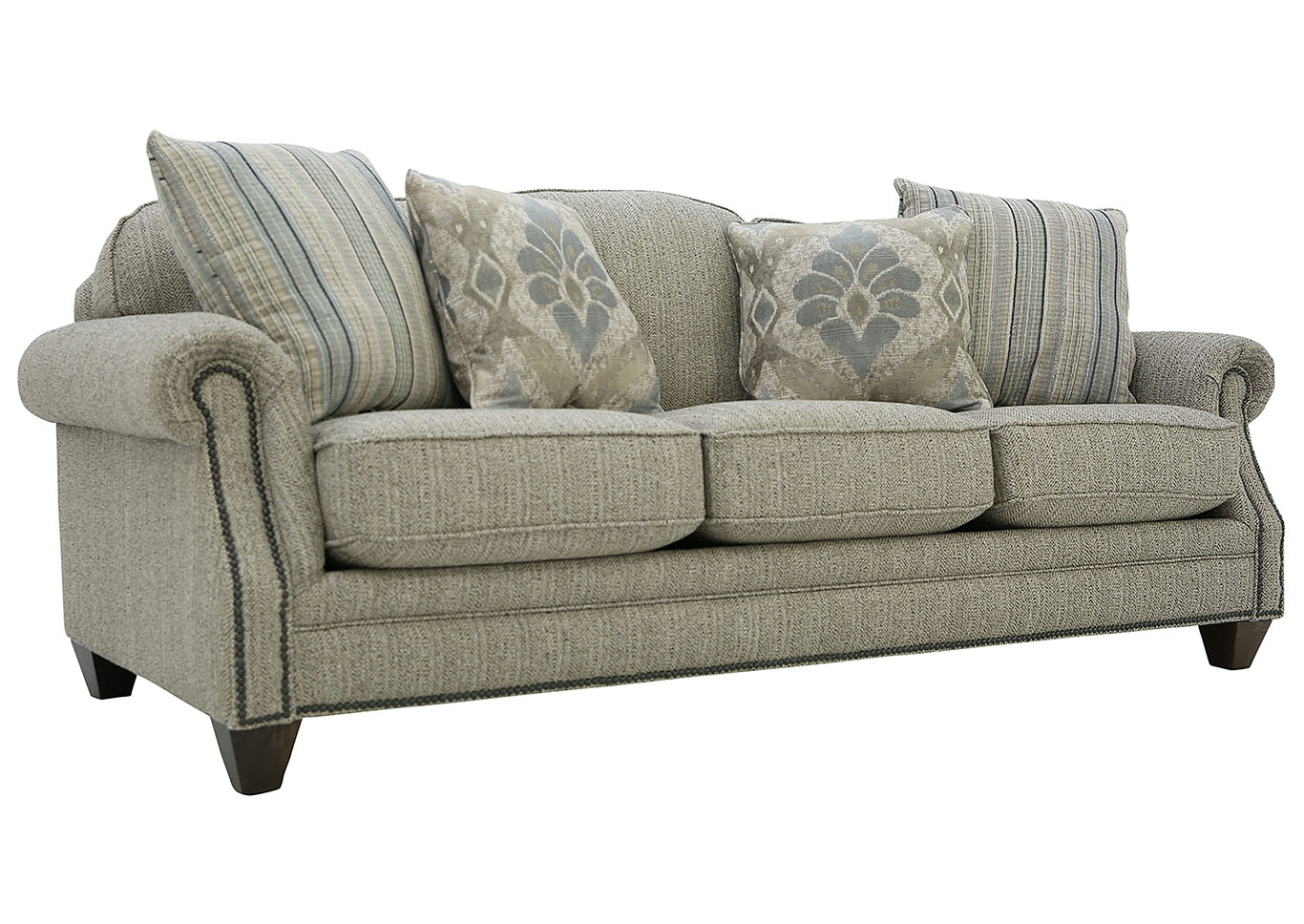 Tilly Fabric Sofa Queen Sleeper Ivan Smith Tilly Slate Sofa