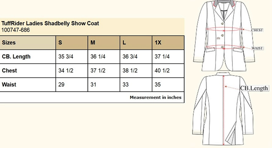 Tuffrider Shadbelly Show Coat - Ladies EquestrianCollections