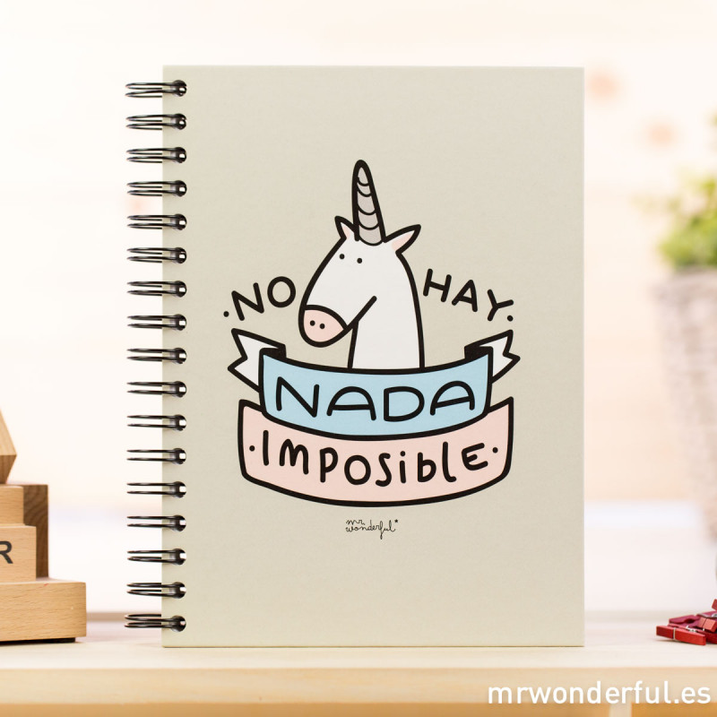 "Laminas Para Cuadros En El Corte Ingles Libreta De Color ""no Hay Nada Imposible"" - Mr. Wonderful"