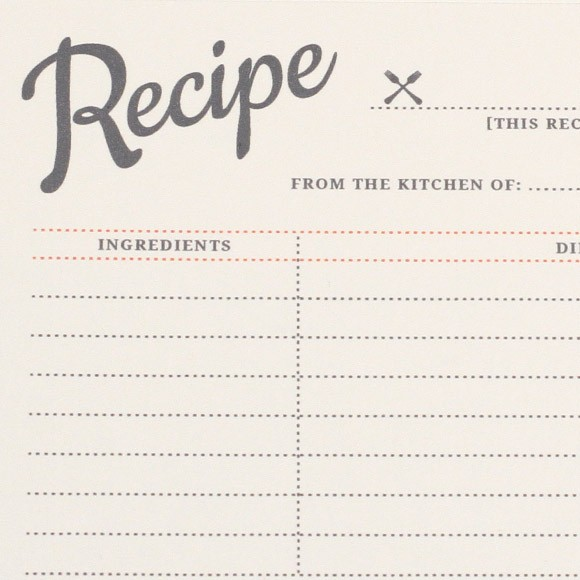 Vintage Recipe Cards Printable by Basic Invite