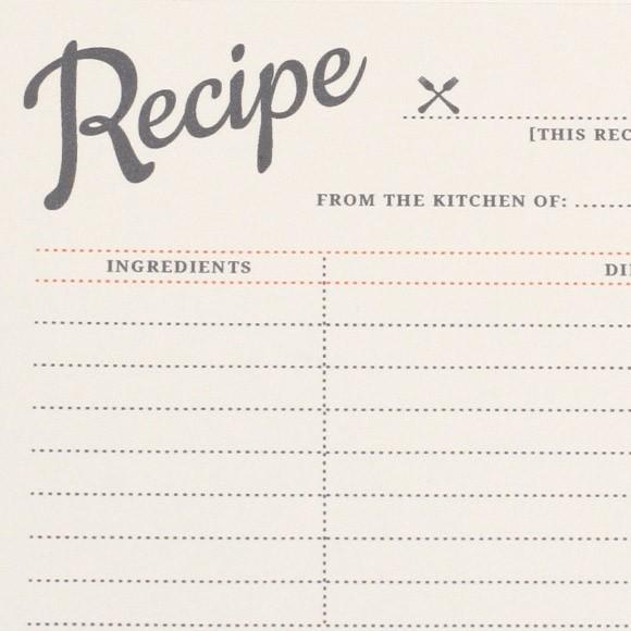 Vintage Recipe Cards Printable by Basic Invite