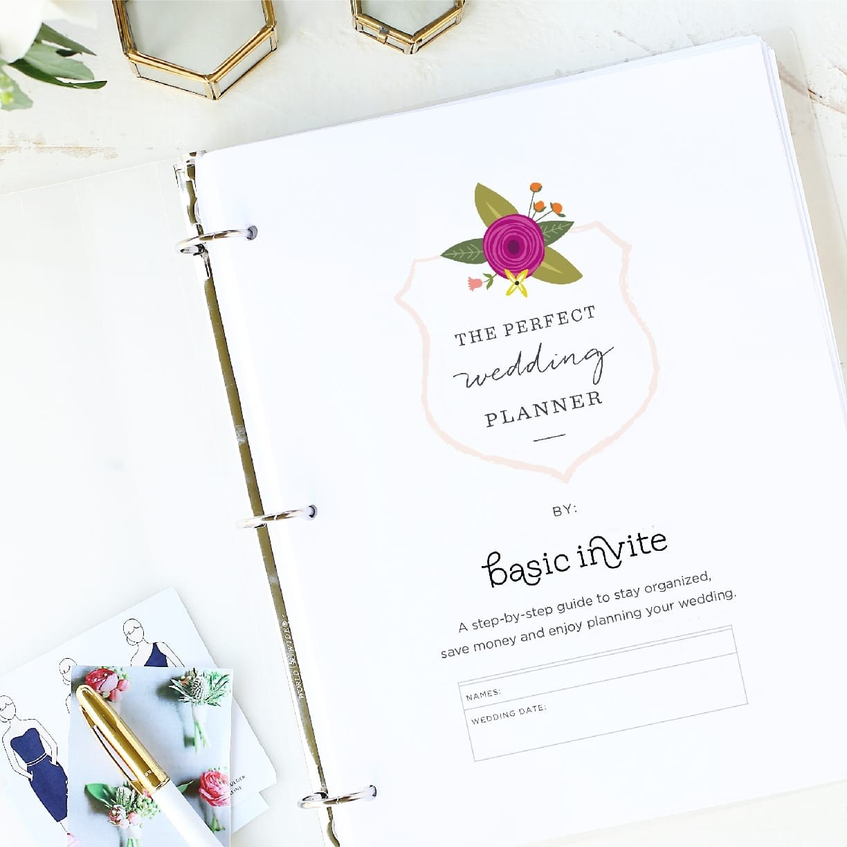 Wedding Planner Printable Pages by Basic Invite