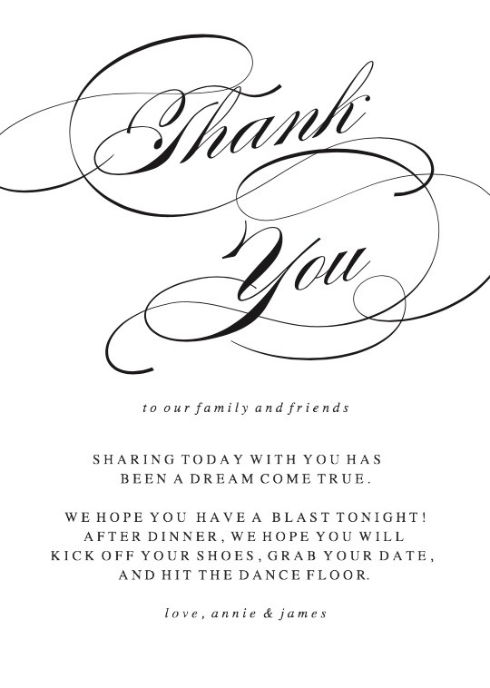 Simplicity Thank You Cards Printable by Basic Invite - printable thank you cards black and white