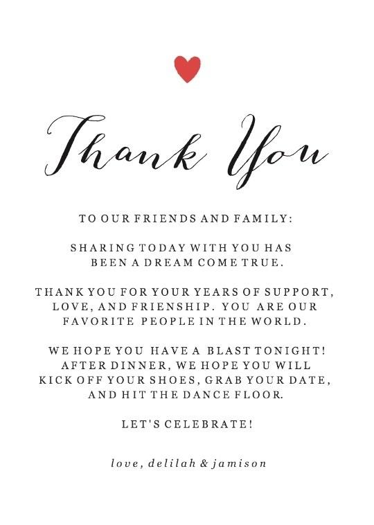 Wedding Thank You - Wedding - Printables - printable thank you cards black and white