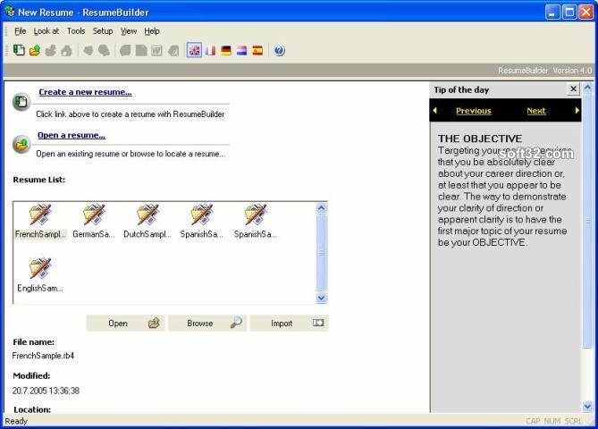 Download Sarmsoft Resume Builder 4860