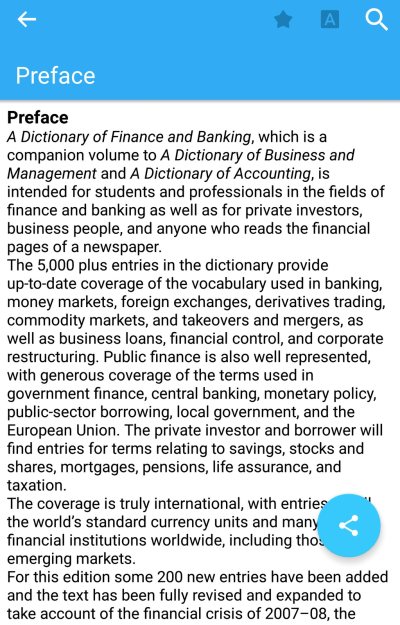 Download Oxford Dictionary of Finance and Banking 8.0.245 for Android
