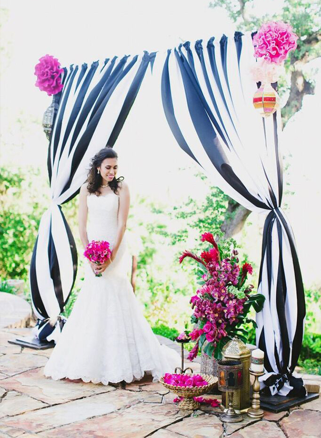 25 Inspiring Ideas For The Classic Black  White Wedding - Inspired - pink black and white weddings