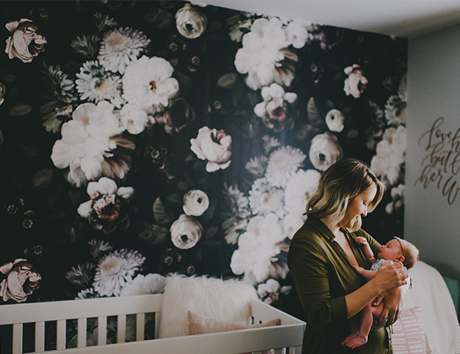 Design Love Fest Wallpaper Fall Moody Floral Wallpapered Nursery Inspired By This