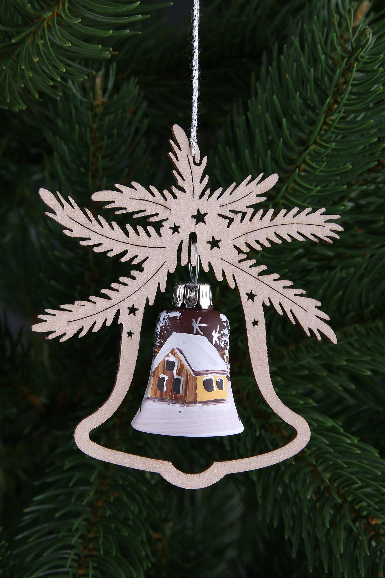 Tree Ornament Hand Painted Glass Bell Ice Princess Set