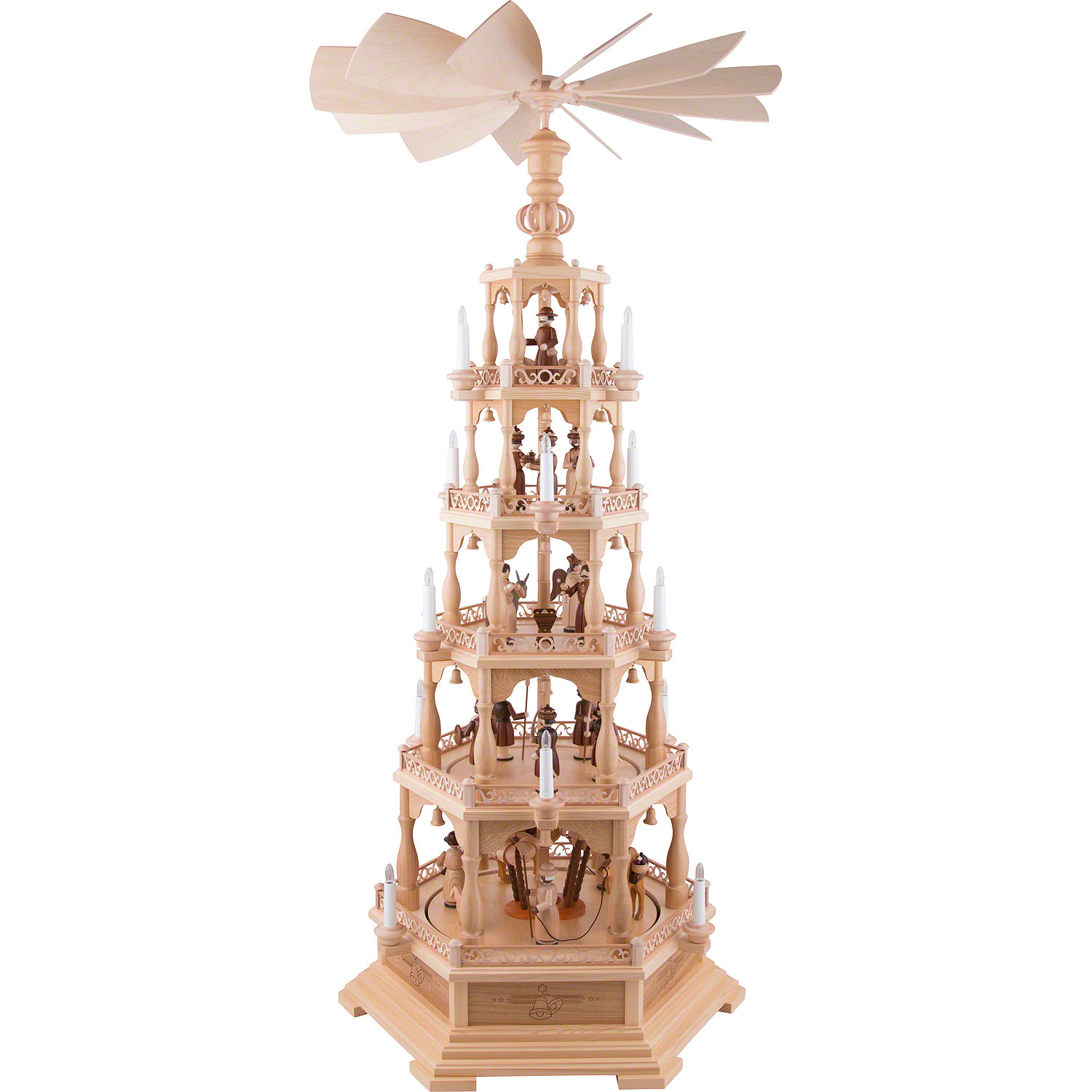 Led Weihnachtspyramide 5 Tier Pyramid The Christmas Story 142 Cm 56 Inch 120 V Electr Motor Us Standard
