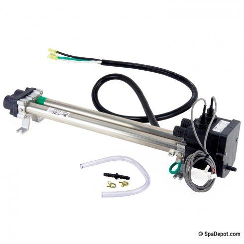 Double-Barrel Low-Flow Titanium Spa Heater for Hot Spring - Watkins