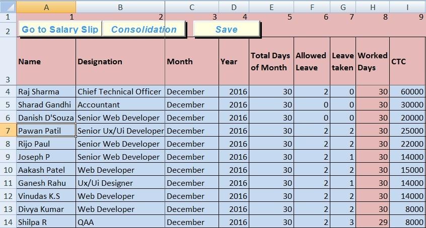 salary excel sheet