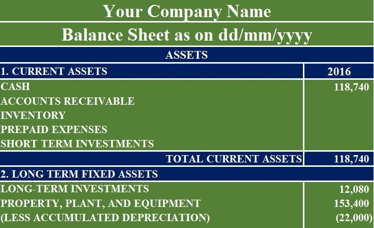 Download Balance Sheet Excel Template - ExcelDataPro - balance sheet excel template