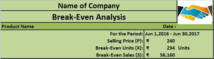 Download Break-Even Analysis Excel Template - ExcelDataPro