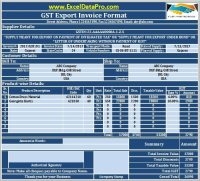 Download GST Export Invoice Format In Excel Under GST ...