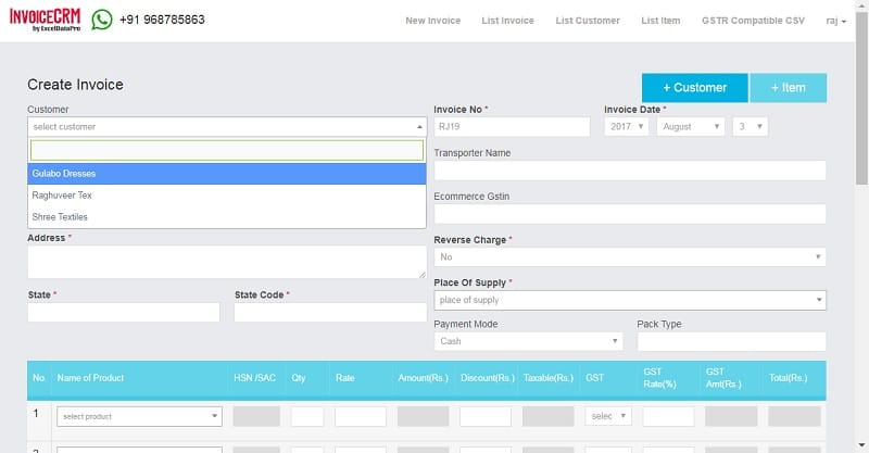 Simplified GST Invoicing and Effortless GSTR Filing - ExcelDataPro - making a invoice