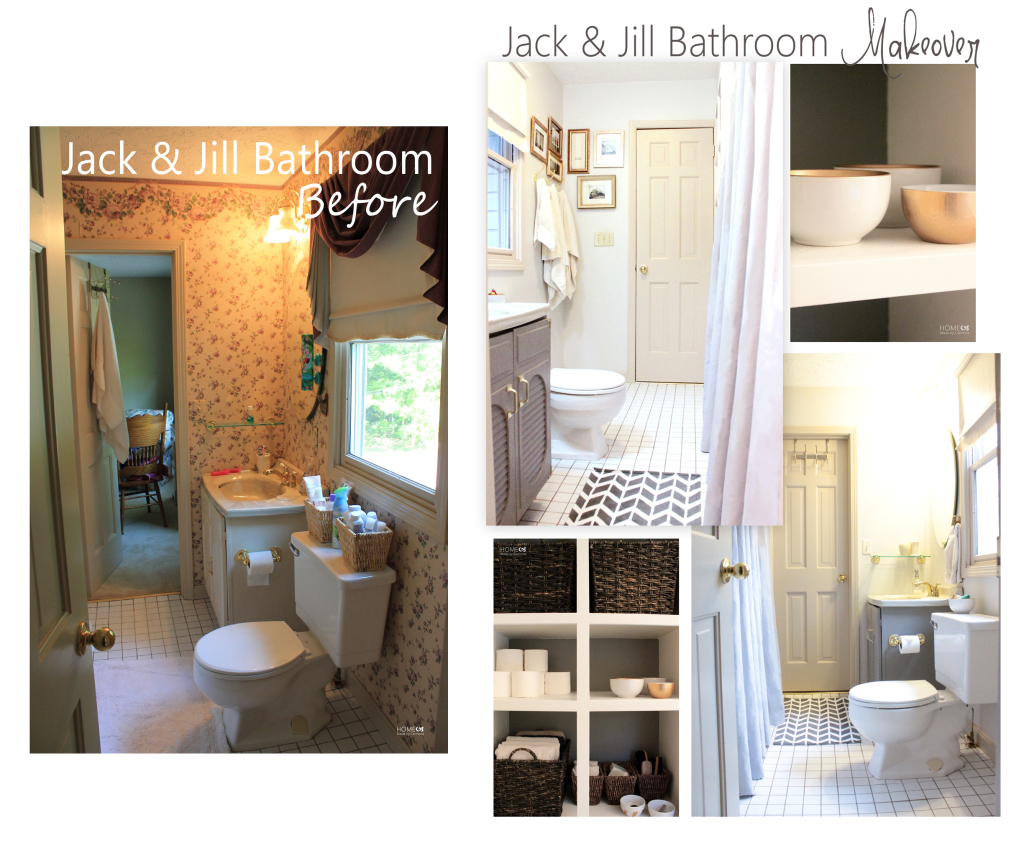 Jack Jill Bathroom Before And After Home Made By Carmona