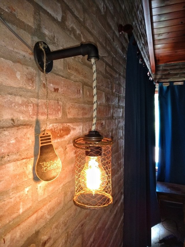 Lampara Gratis Lampara Vintage Aplique Pared Industrial